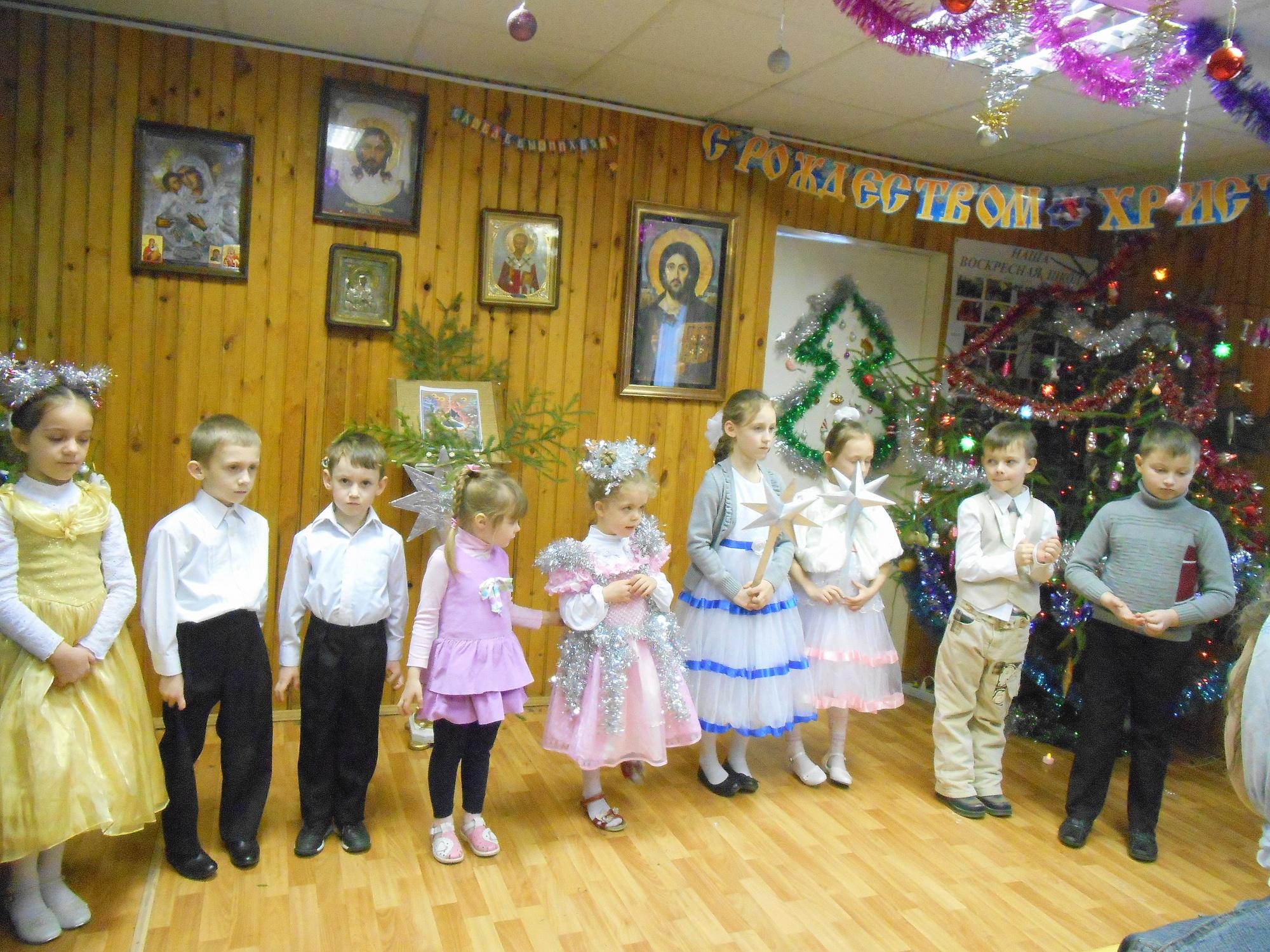 Рождественский детский праздник в Никольском храме города Коломны